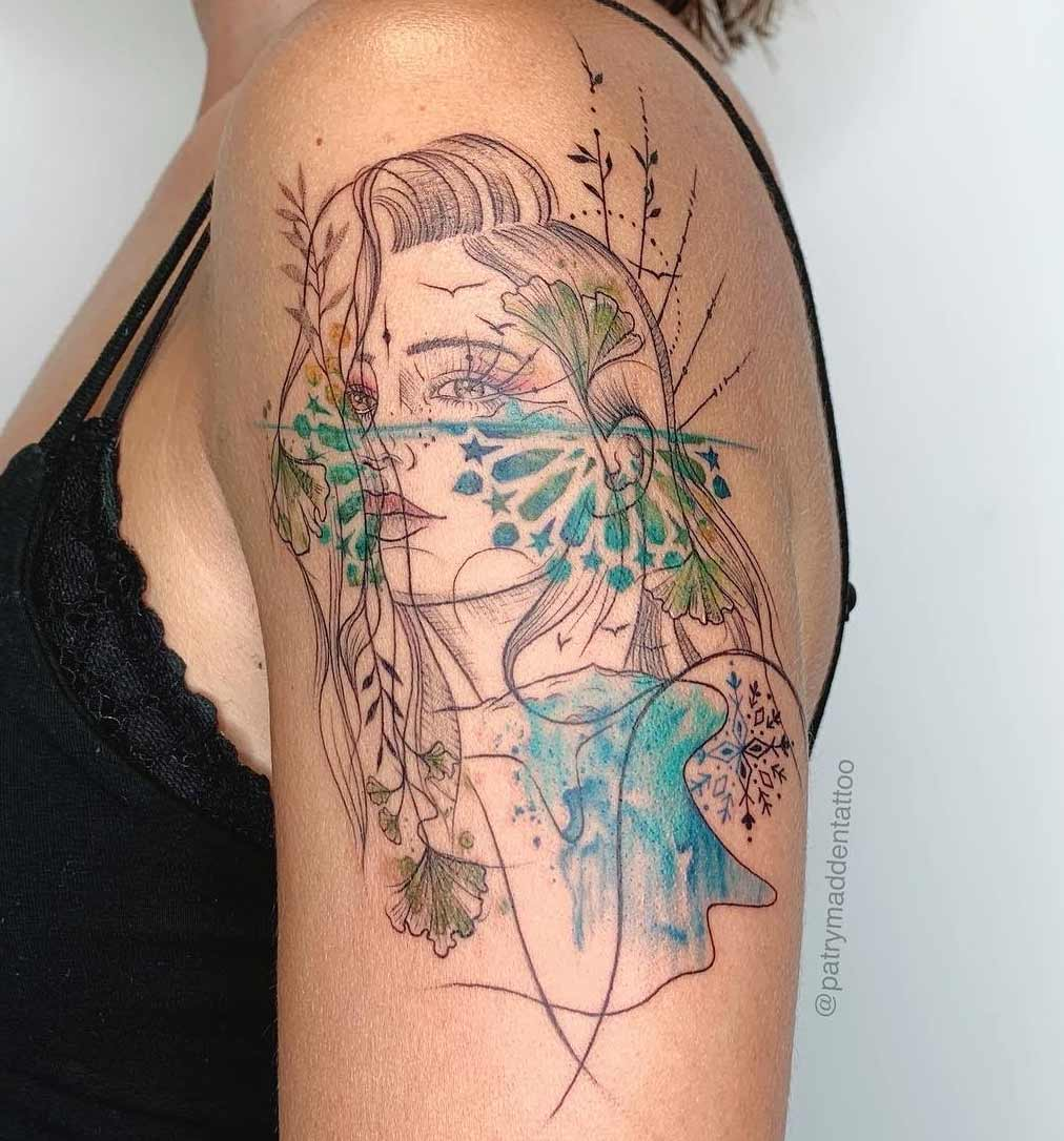 Cuttoo - patry madden tattoo mujer color